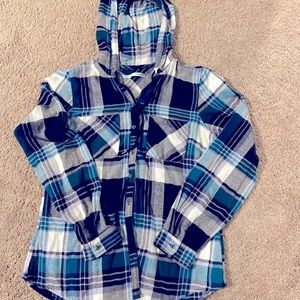 Hooded flannel- size small